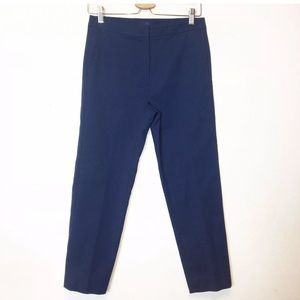 Blue Les Copains Blue Slim Fit Crop Trouser